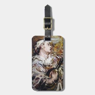 DaumierのPierrotのカスタムな荷物のラベル ラゲッジタグ