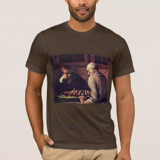 Daumier Honoré著チェスをする人 Tシャツ