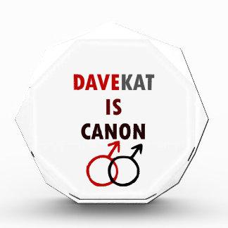 Davekatはですキャノン(v1) 表彰盾