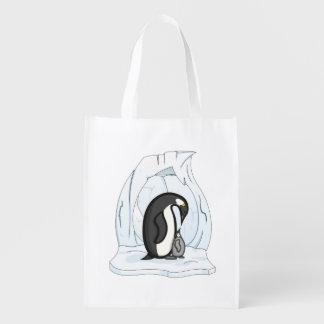 Davinおよびアニーペンギンの再使用可能な買い物袋 エコバッグ