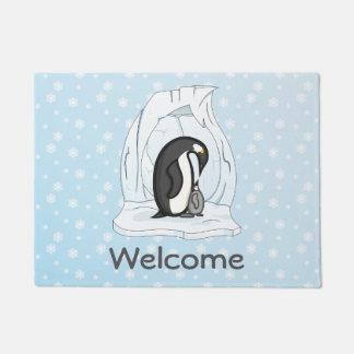 Davinおよびアニーペンギンの玄関マット ドアマット