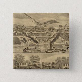 Davosburghの石炭の仕事 5.1cm 正方形バッジ