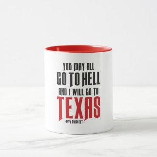 Davy Crockettの引用文のテキサス州のコーヒー・マグ マグカップ