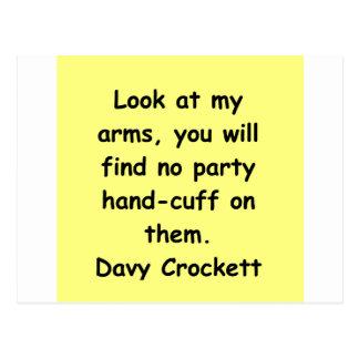 davy crockettの引用文 ポストカード
