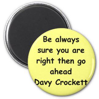davy crockettの引用文 マグネット