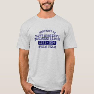 Davy Crockettの探検家のカヌーT Tシャツ