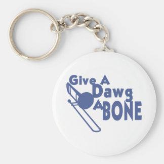 Dawgに骨を与えて下さい キーホルダー