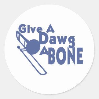 Dawgに骨を与えて下さい ラウンドシール