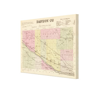 Dawson郡、ネブラスカ キャンバスプリント