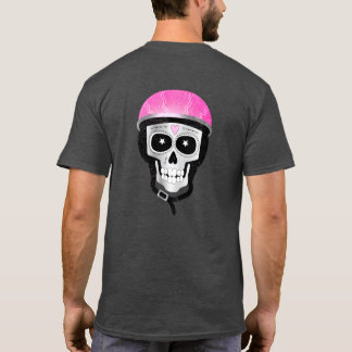 Day of the Dead Skull in Bike Helmet Tシャツ