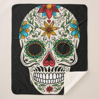 Day of the Dead Sugar Skull Sherpa Blanket シェルパブランケット