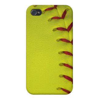 Daygloのネオン黄色いソフトボール iPhone 4/4S カバー