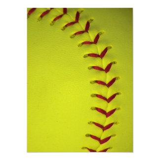 Daygloの黄色いソフトボール 14 X 19.1 インビテーションカード