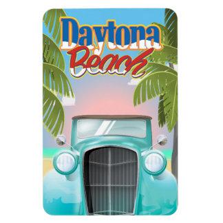 Daytona Beachのフロリダ米国のヴィンテージ旅行ポスター マグネット