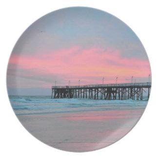 Daytona Beachのメイン・ストリート桟橋の日の出のプレート プレート