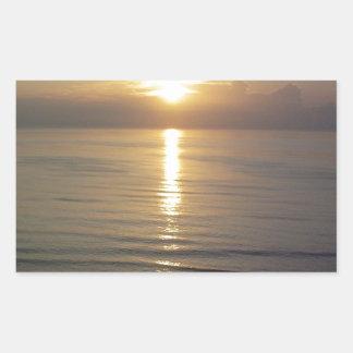 Daytona Beachの日の出 長方形シール