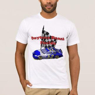 Daytona Beachの高速自動車道路のレーサーメンズTシャツ Tシャツ