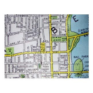 DAYTONA BEACHのFLのヴィンテージの地図の郵便はがき ポストカード