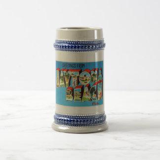 Daytona BeachフロリダFLのヴィンテージ旅行記念品 ビールジョッキ