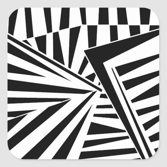 dazzle camouflage(black) スクエアシール