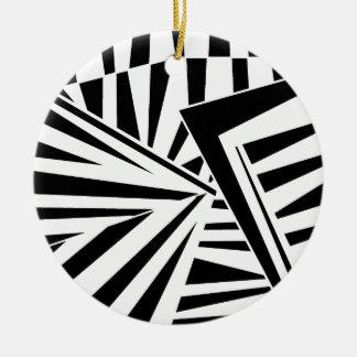 dazzle camouflage(black) 陶器製丸型オーナメント