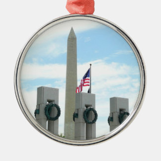 DCのワシントン記念塔そしてWWIIの記念物 メタルオーナメント