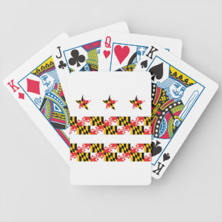 DCの旗のカジノカードのメリーランドの旗 バイスクルトランプ
