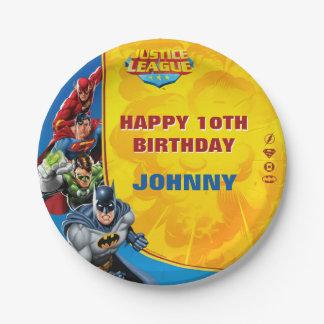 DCの漫画|のジャスティス・リーグ-誕生日 ペーパープレート