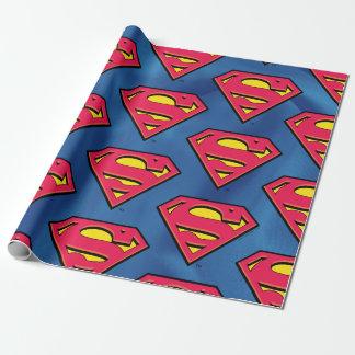 DCの漫画|のスーパーマン|のクラシックなロゴ ラッピングペーパー