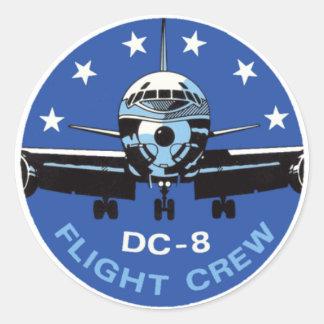 DC-8搭乗員 ラウンドシール