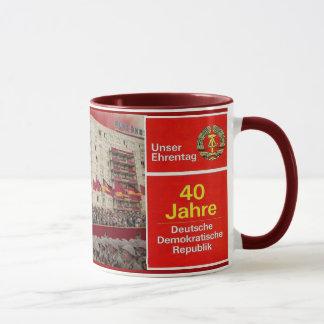 DDR 40年の東ドイツ マグカップ