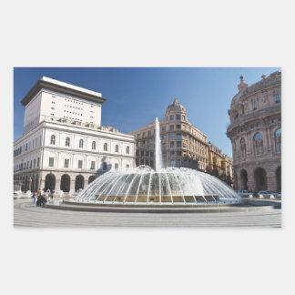 DeフェラーリSquare、ジェノア、イタリア 長方形シール