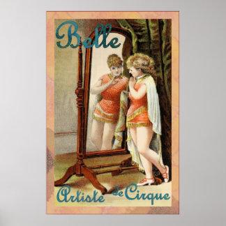 de Cirque美女の~のArtisteの~のヴィンテージのサーカス ポスター
