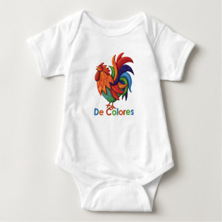 De Colores Roosterガロの赤ん坊のジャージーのボディスーツ ベビーボディスーツ