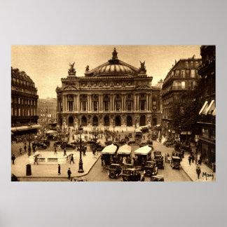 de l'Operaのパリフランスc1925のヴィンテージを置いて下さい ポスター