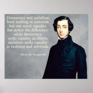 de Tocqueville Democracyおよび社会主義 ポスター