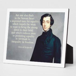 de Tocqueville Equalityの引用文 フォトプラーク
