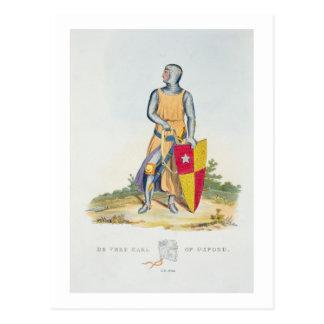 De Vereのオックスフォード「古代Armouからの1280年の伯爵、 ポストカード