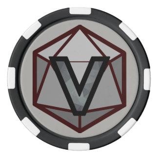 DEADLANDS -灰色のチームポーカー用のチップ ポーカーチップ