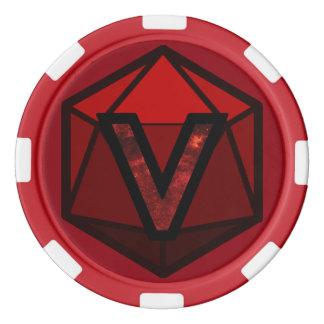 DEADLANDS -赤いチームポーカー用のチップ ポーカーチップ