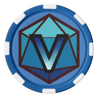 DEADLANDS -青いチームポーカー用のチップ ポーカーチップ
