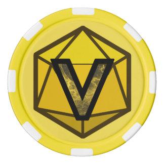 DEADLANDS -黄色いチームポーカー用のチップ ポーカーチップ