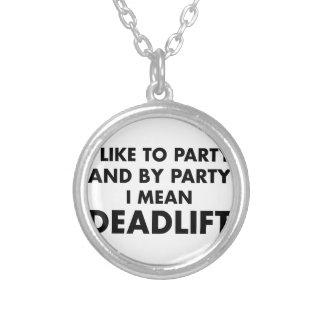 Deadlift シルバープレートネックレス