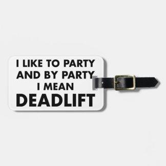 Deadlift ラゲッジタグ