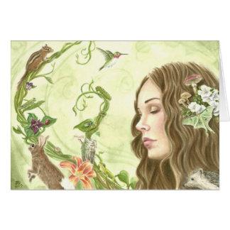 Deanna Bachの芸術による木からの歌 カード