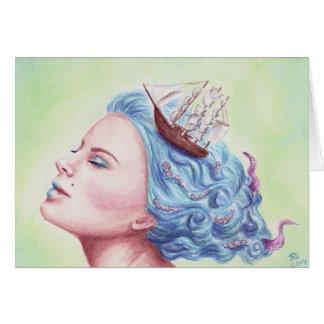 Deanna Bachの芸術による波を渡って カード