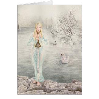 Deanna Bachの芸術による湖の女性 カード