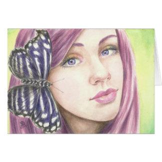 Deanna Bachの芸術による蝶絵画 カード