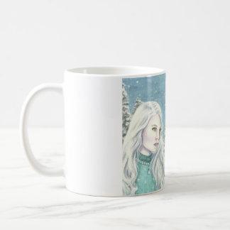 """Deanna Bachの芸術による""""冬Royals""""の コーヒーマグカップ"""