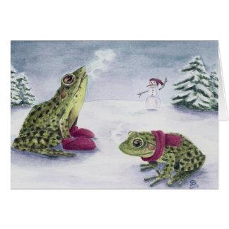 """Deanna Bachの芸術による""""冷たいカエル"""" カード"""